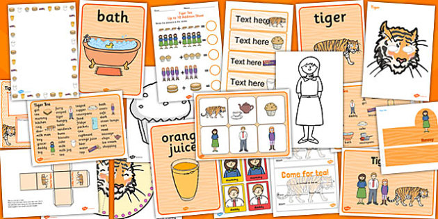 The Tiger Who Came to Tea Story Sack Resource Pack - The Tiger Who Came to Tea Storysack, The Tiger Who Came to Tea, The Tiger Who Came to Tea story sack, The Tiger Who Came to Tea EYFS, The Tiger Who Came to Tea KS1, The Tiger Who Came to Tea twinkl