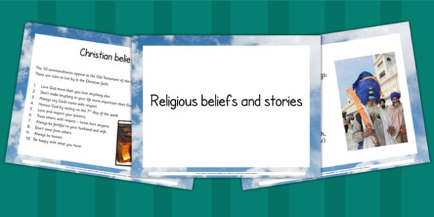 Religious Stories and Beliefs PowerPoint - RE, religion, beliefs