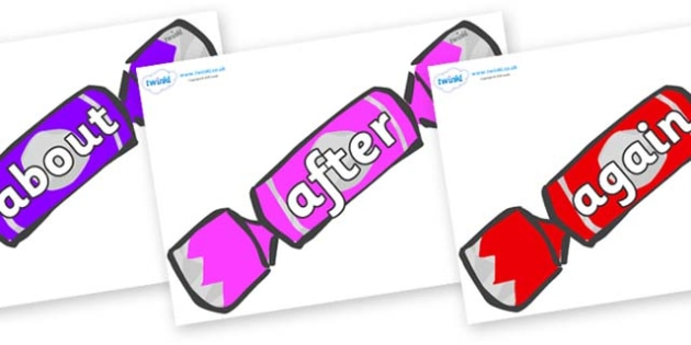 KS1 Keywords on Crackers (Multicolour) - KS1, CLL, Communication language and literacy, Display, Key words, high frequency words, foundation stage literacy, DfES Letters and Sounds, Letters and Sounds, spelling