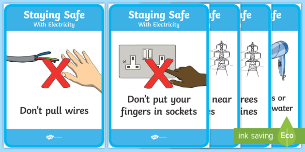 Electrical Safety Display Posters Teacher Made