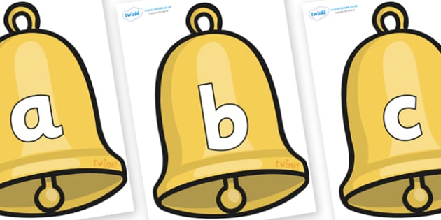 Phoneme Set on Christmas Bell - Phoneme set, phonemes, phoneme, Letters and Sounds, DfES, display, Phase 1, Phase 2, Phase 3, Phase 5, Foundation, Literacy