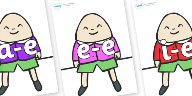 Modifying E Letters on Humpty Dumpty - Modifying E, letters, modify, Phase 5, Phase five, alternative spellings for phonemes, DfES letters and Sounds