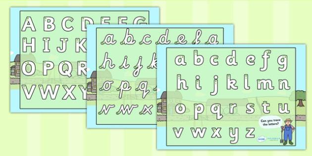 Farm Themed Letter Writing Worksheet - farm, writing sheet, write