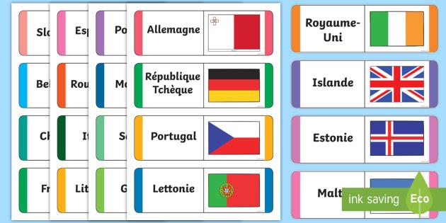 cartes en boucle   les drapeaux europ u00e9ens