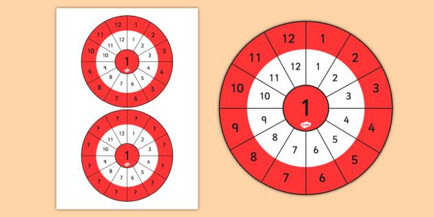 2 Times Table Wheel Cut Outs - visual aid, maths, numeracy