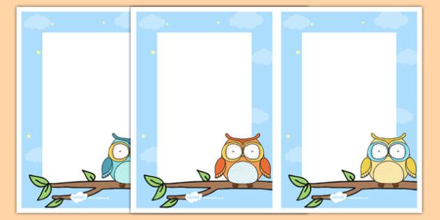 Cute Owl Themed Editable Notes - cute owl, editable notes, editable, edit, notes