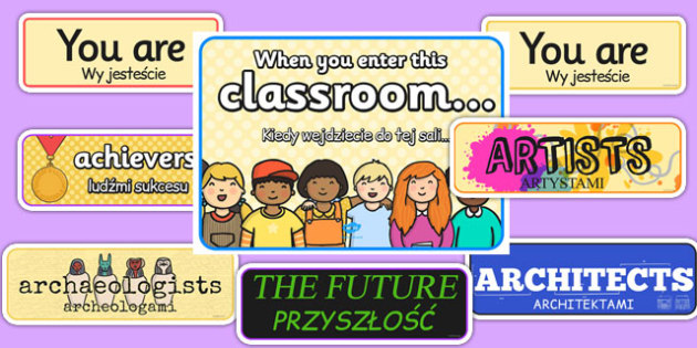 When You Enter this Classroom Display Pack Polish Translation - polish, classroom, display