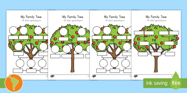 My Family Tree Worksheet Worksheets Us Englishspanish Latin