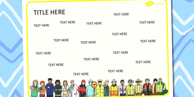 People Who Help Us Themed Editable Word Mat - literacy, words