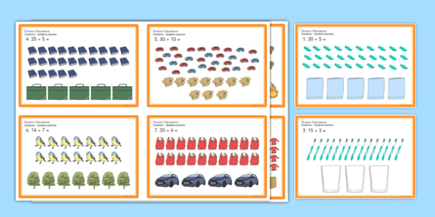 Division Challenge Cards Polish Translation - polish, Maths, division, divide, share, equally, split, reason, solve, justify, move, group, sort, word problems, sorting, grouping