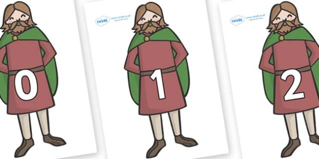 Numbers 0-100 on Britons - 0-100, foundation stage numeracy, Number recognition, Number flashcards, counting, number frieze, Display numbers, number posters