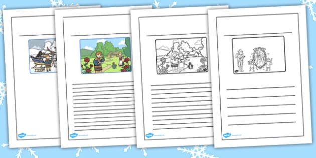 The Snow Queen Story Writing Frames - frame,  traditional, tales