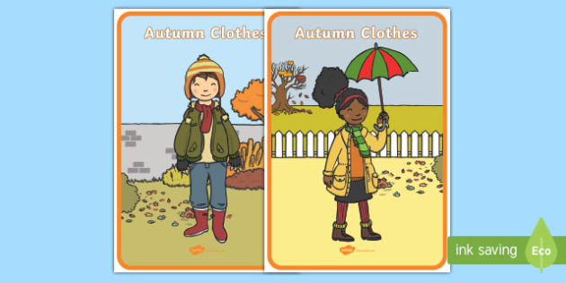 Autumn Clothes Display Posters