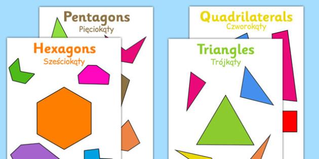 2D Regular and Irregular Shape Posters Polish Translation - polish, 2d, regular, irregular, shape, posters