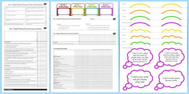 2014 Curriculum Year 1 English Writing Assessment Resource Pack