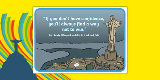 Olympic Themed Inspirational Quote Carl Lewis - usa, america, olympics, 2016 olympics, rio 2016, rio olympics, quote, carl lewis