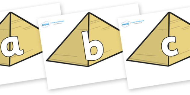 Phoneme Set on Pyramids - Phoneme set, phonemes, phoneme, Letters and Sounds, DfES, display, Phase 1, Phase 2, Phase 3, Phase 5, Foundation, Literacy
