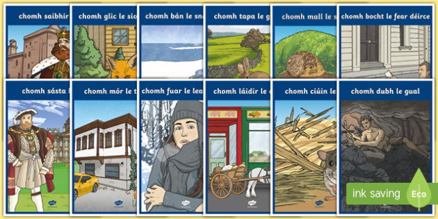 Irish Similes Display Posters Gaeilge