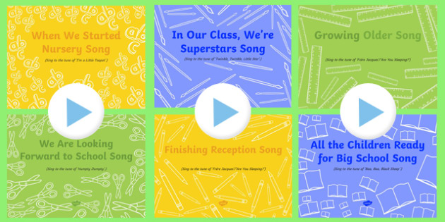 EYFS End of Year Songs and Rhymes PowerPoints Pack