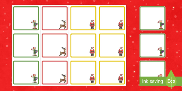 Christmas Themed Square Peg Labels