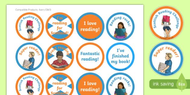 Scottish Reading Challenge Stickers-Scottish