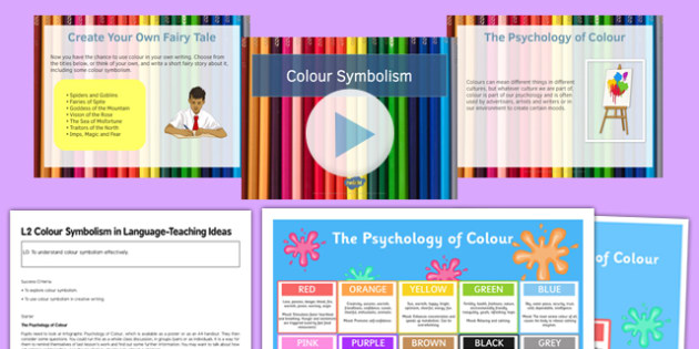 Colour Symbolism Lesson Pack 2 - colour, symbolism, lesson, pack, 2, lesson pack