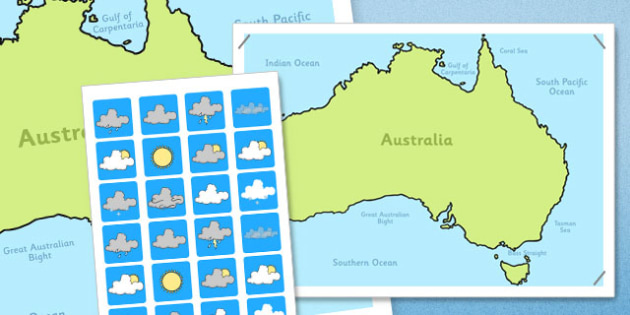 Australia Weather Forecasting Role-Play Pack - australia, weather, role-play