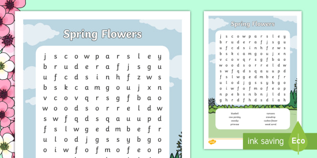 new spring aistear flowers word search rh twinkl ie