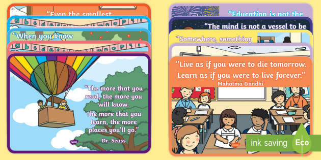 Classroom Learning Inspirational Quote Posters Classroom