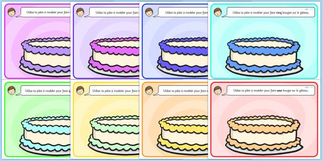 Cake Playdough Mats French - french, cake, playdough mats, playdough, mats