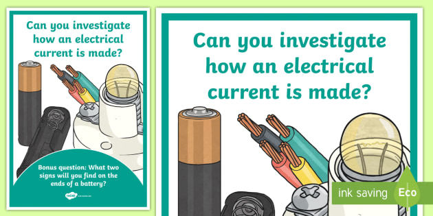 Science Electrical Circuit Investigation Prompt Display Poster - science, SESE, investigation, experiment, equipment, resources, open-ended, prompt question, procedu