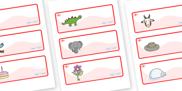 England Themed Editable Drawer-Peg-Name Labels - Themed Classroom Label Templates, Resource Labels, Name Labels, Editable Labels, Drawer Labels, Coat Peg Labels, Peg Label, KS1 Labels, Foundation Labels, Foundation Stage Labels, Teaching Labels