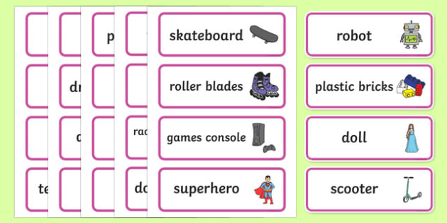 Toy Museum Word Cards - toy museum, toys, play, role play, museum, word cards