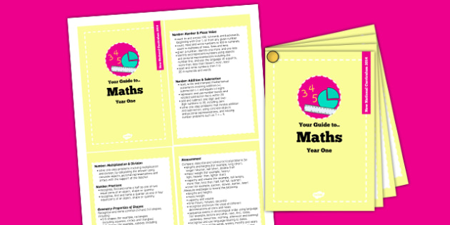 2014 National Curriculum Cards Year 1 Maths - new curriculum, plans, card