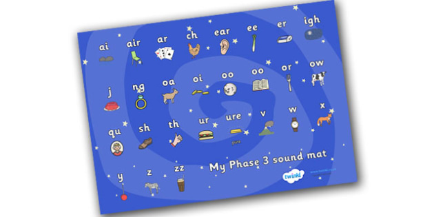 Space Themed Phase 3 Sound Mats - sound mat, sound, mat, sounds, space, outer space, in space, moon, sun, stars, space themed, space theme, space phase 3, phase 3, phases, phase three, letters and sounds, pronunciation, literacy