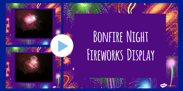 Bonfire Night Firework Display Video PowerPoint - fireworks