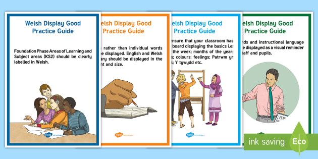 Welsh Display Good Practice Guide A4 Display Poster - Welsh Second Language Display Resources, Welsh Display, Welsh, Good Practice,Welsh