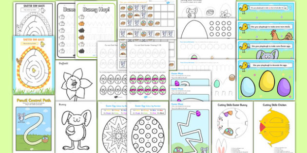 Easter Fine Motor Skills Resource Pack - easter, religion, RE