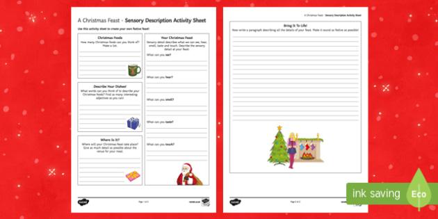 A Christmas Feast! Activity Sheet