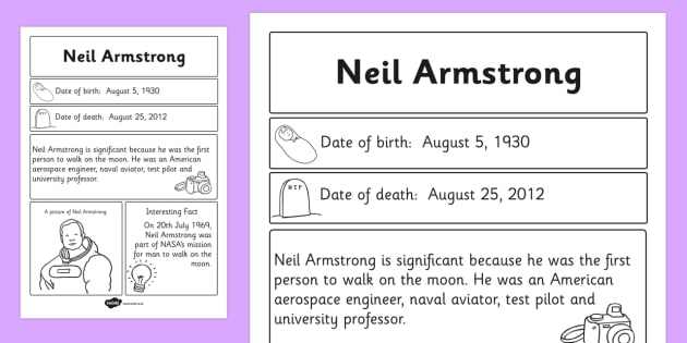 neil armstrong biography timeline