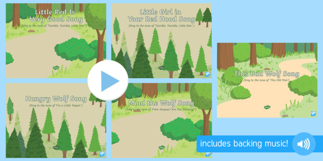 EYFS Little Red Riding Hood Songs and Rhymes PowerPoints Pack