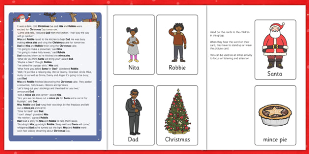 Christmas Eve Listening Story Activity - christmas eve, listening, story