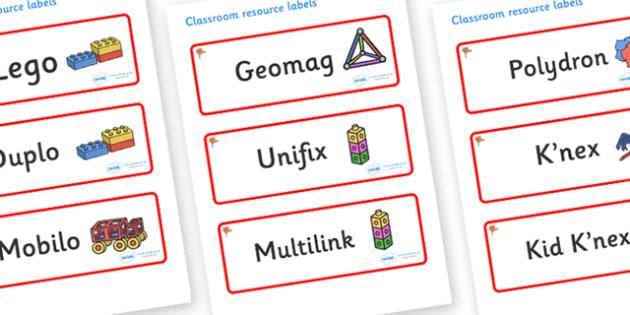 Ginko Tree Themed Editable Construction Area Resource Labels - Themed Construction resource labels, Label template, Resource Label, Name Labels, Editable Labels, Drawer Labels, KS1 Labels, Foundation Labels, Foundation Stage Labels