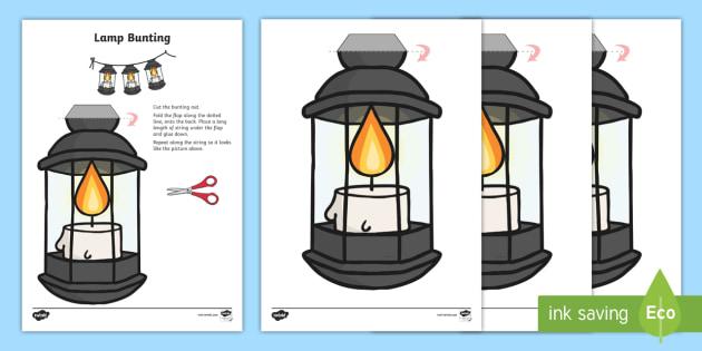 florence nightingale lantern template  Lamp Display Bunting - lamp bunting, lantern bunting ...