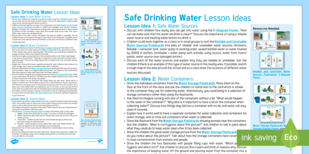 Safe Drinking Water Lesson Ideas - global, Africa, children