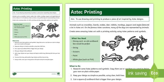 New Amazing Aztec Art Activity Pattern Printing Design