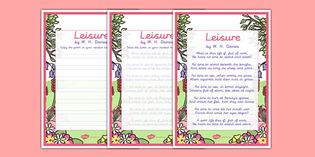 Leisure KS2 Handwriting poems - leisure, ks2, handwriting poems, handwriting, poems
