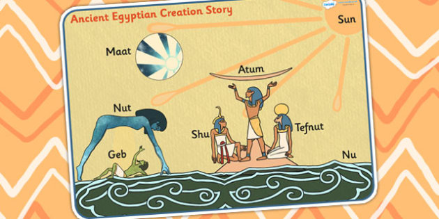 the creation myth in ancient egypt Like other creation myths, egypt's is complex and offers several versions of how the world unfoldedthe ancient egyptians believed that the basic principles of life, nature and society were determined by the gods at the creation of the world.