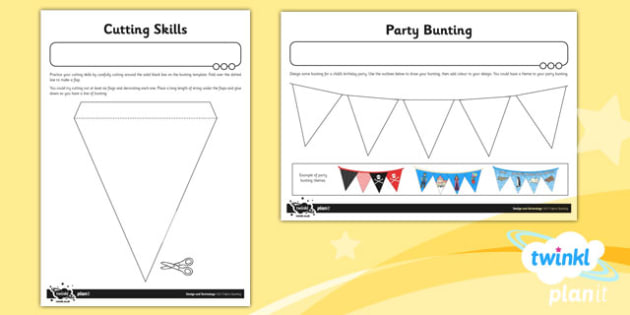 D&T: Fabric Bunting KS1 Unit Home Learning Tasks