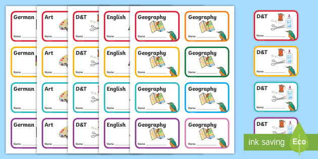 Kingfisher Themed Editable Book Labels - Themed Book label, label, subject labels, exercise book, workbook labels, textbook labels